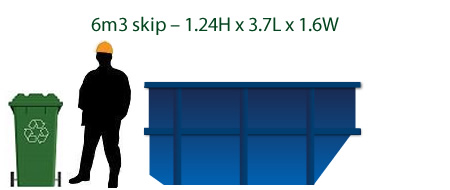 6 cubic metre skip bin