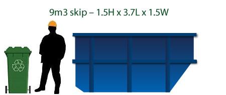 9m bins skips trailors